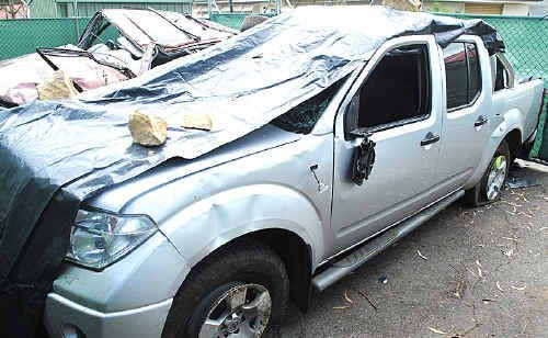 A Toowoomba man has been charged after crashing this ute at Roma.