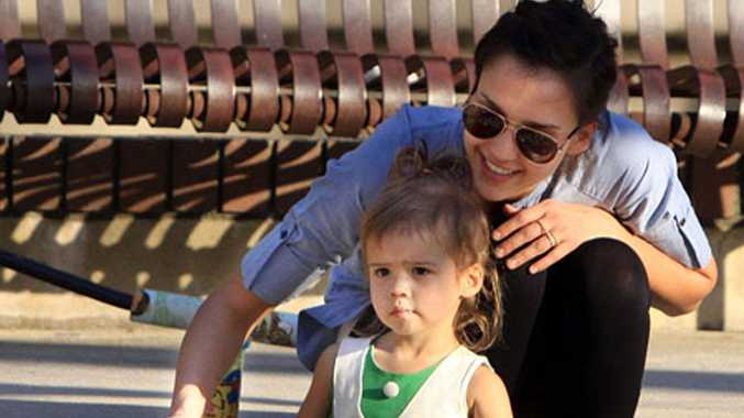 Jessica Alba with daughter Honor.