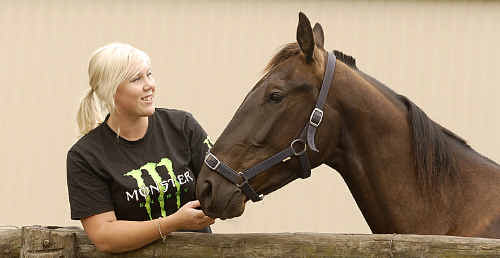 Harness racing trainer Lisa Whiteley is looking to kick start her career with Whippersblackmagic tonight.