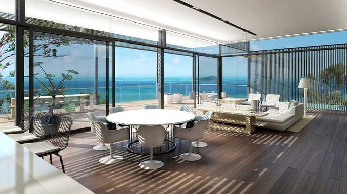 A look at the inside of one of the new private residences on Hayman Island which comes with a price tag of about $18 million.