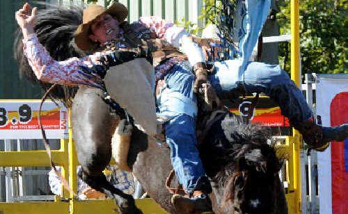 Gracemere cowboy Stuart Frame in action.