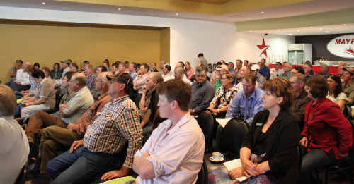 QUESTIONS REMAIN: DEEDI's information forum did little to answer farmers' questions. tm-241110-016
