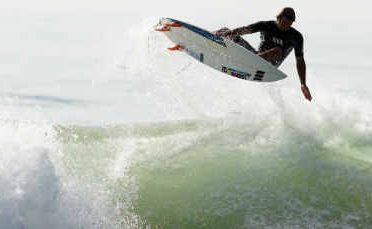 Josh Sherwell gets some air at Maroochydore.