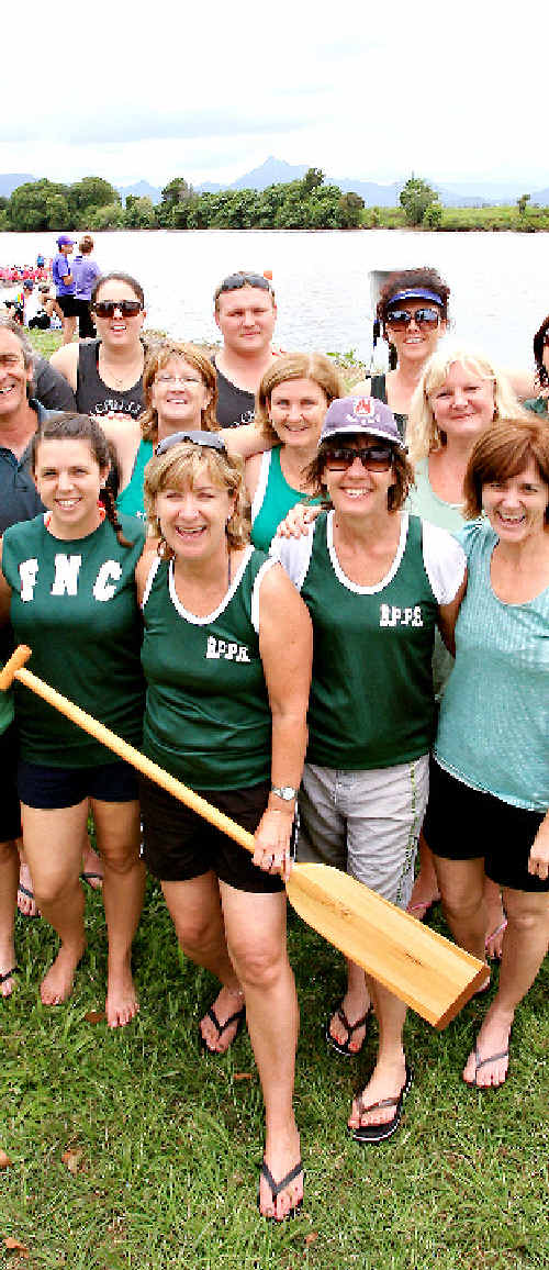 Banora pride: Banora Point Primary School got behind the Kids in Need Dragon Boat Races.