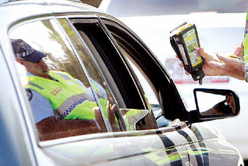 Police conduct random breath tests anywhere anytime.