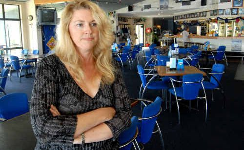 Mackay Yacht Club Tradewinds bistro manager Sam Belamy says there has been a noticeable lack of patrons since the Harbour's southern breakwater was closed for repairs and upgrades.