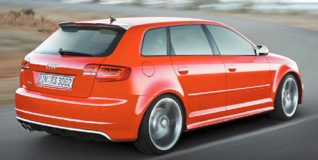 Audi has unveiled the world's most powerful hot-hatch with a new RS variant of its A3 small car.