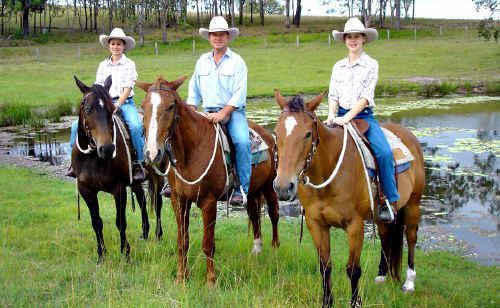 Cattleman Tony Perrett hopes his daughters Josie and Stephanie can continue on in his family's century-old tradition of running cattle on freehold and state forest land.