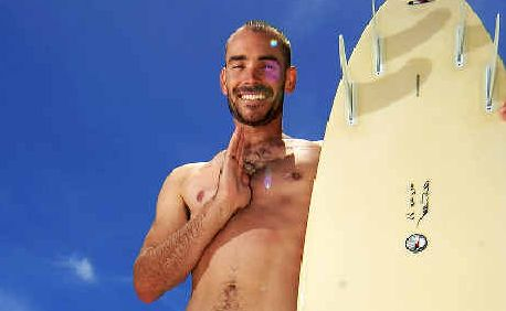 Not-for-profit: Cancer survivor Rick Cowley is holding Surf Life retreats that combine yoga, surfing and healthy eating to inspire young adults with cancer to live life to the fullest.