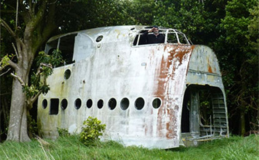 The RNZAF Short Sunderland on Chatham Island.