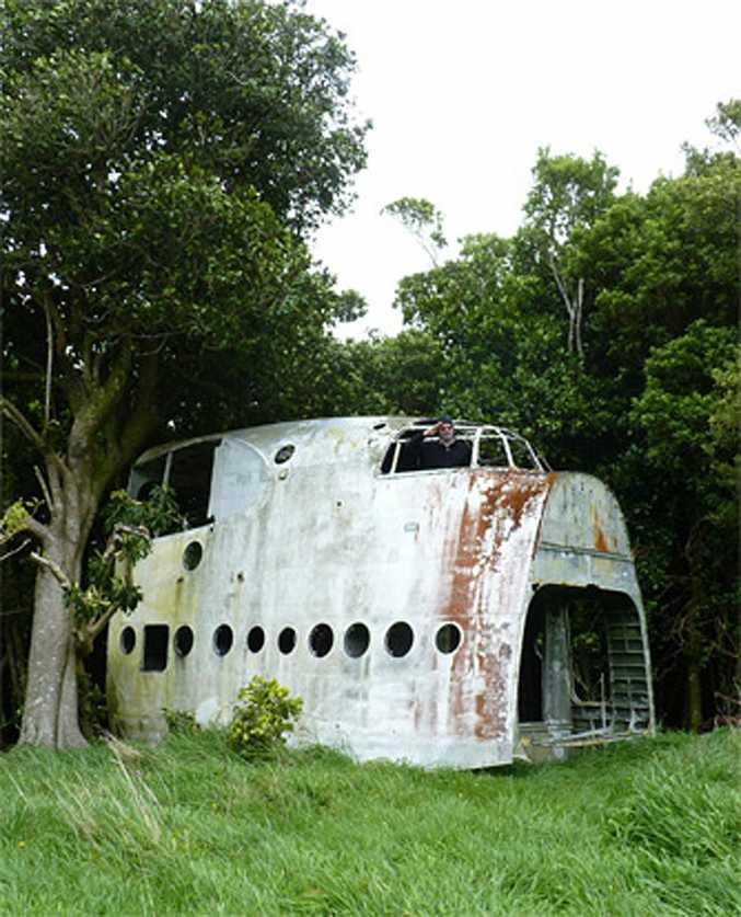 The RNZAF Short Sunderland on Chatham Island.