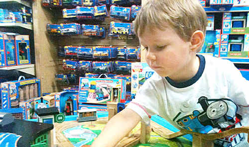 With Christmas only 22 sleeps away, Andrew Brazier is hoping Santa will bring him a Thomas the Tank Engine set.