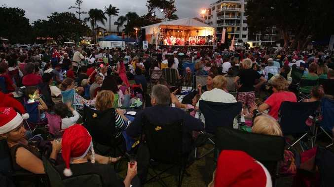 Carols by candlelight at Cotton Tree 2009.