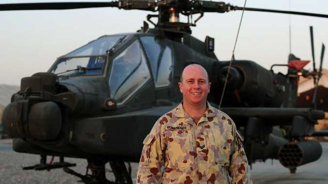 Coffs Harbour's Ben Chandler is two months into his deployment in Afghanistan.