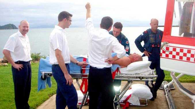 A tourist stung by an irukandji jellyfish near Hayman Island was airlifted to Mackay