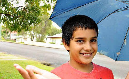 Josh Dennien is ready for rain this weekend.