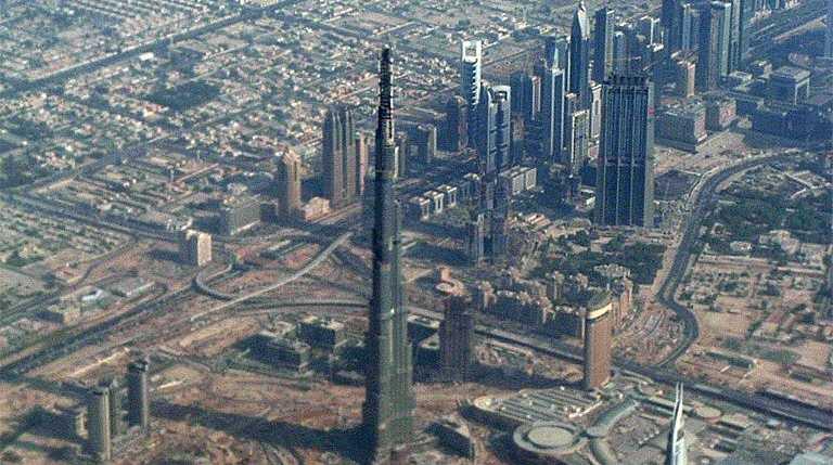 The Burj Khalifa, Dubai, is the world's tallest building.