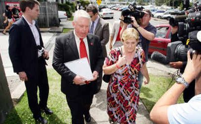 Coronial Inquest into the Disapearance of Daniel Morcombe. Denise and Bruce Morcombe leave Maroochydore Magistrates Court.