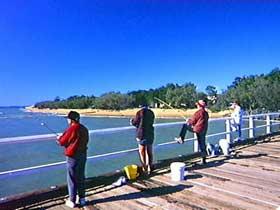 Fishing at Urangan Pier