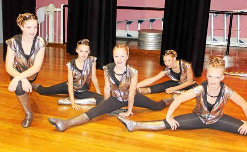 Killarney School of Dance performers (from left) Ayden Gillam, Jordie Pike, Amy Hain, Chantelle Cameron and Kaitlin Burton at the Warwick Town Hall.