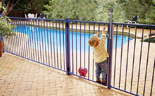 All pools must have safe locks, gates, latches and fences.