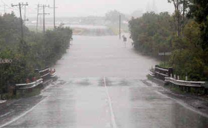Access to the new Edmund Casey Bridge was cut last week after heavy rain flooded Fursden Creek bridge on the Glenella Connection Road.