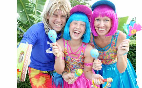 Let the Children band – Russell, Emmerson, 11, and Helena Madden.