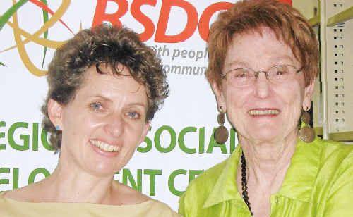 Business development co-ordinator Deborah Rae, left, and company secretary Carmel Daveson.