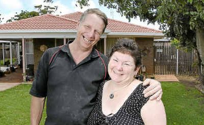 Wilsonton homeowners Tamara and Brett Briese are relieved by the decision to keep the official interest rate at 4.75 per cent.