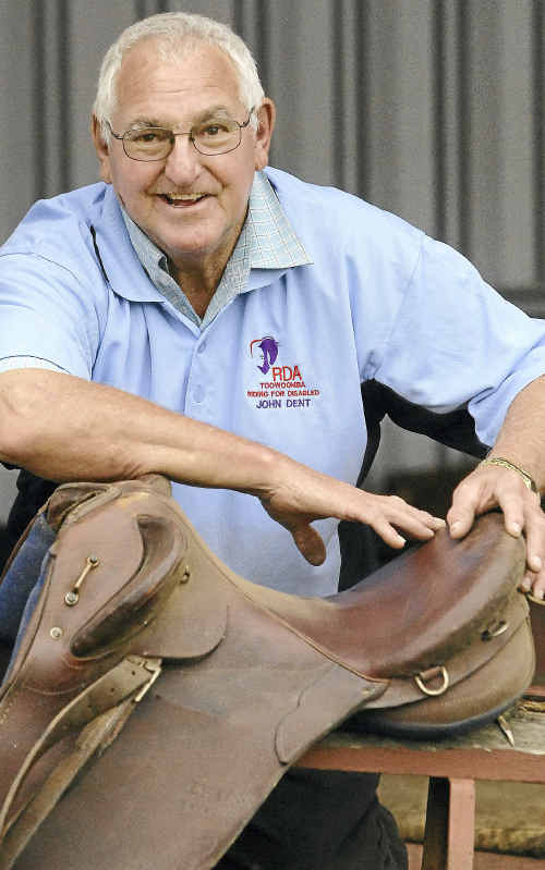 Riding for the Disabled president John Dent saddles up for another ride.