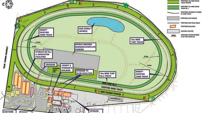 The $18 million development plan recommended for Ooralea Racecourse.