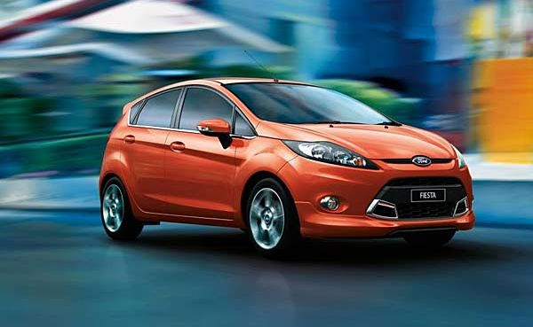 The new model Ford Fiesta.