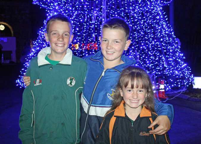 Ty, Zac and Paxton Gooderham about to enter the Christmas Wonderland of Lights.