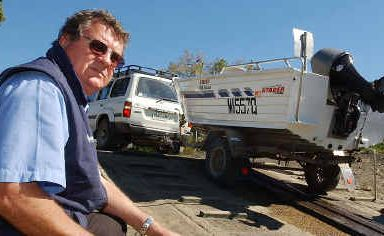 Lance Murray at the Constant Creek boat ramp, which will be replaced by a new ramp worth about $500,000 by this time next year.