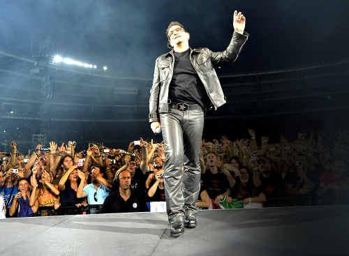 Supergroup U2 featuring lead singer Bono