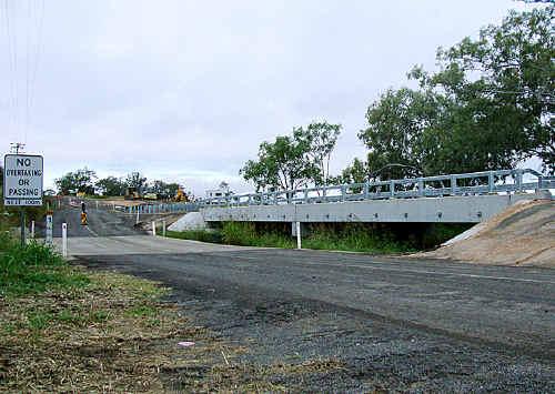 The new Jondaryan-Evanslea Road bridge near the Jondaryan Woolshed will be officially opened next week.