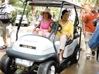 Gayle King and Oprah Winfrey ride into the Wildlife Sanctuary on Hamilton Island as Oprah touches down in Australia.