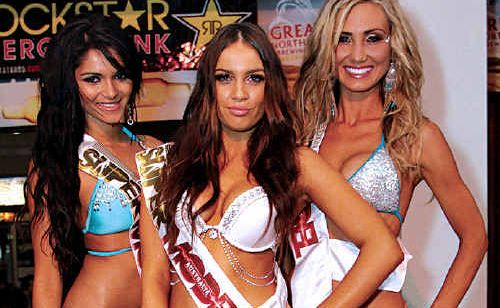 Bikini Super Model Australia winners Angela, left, Brooke and Sarah.