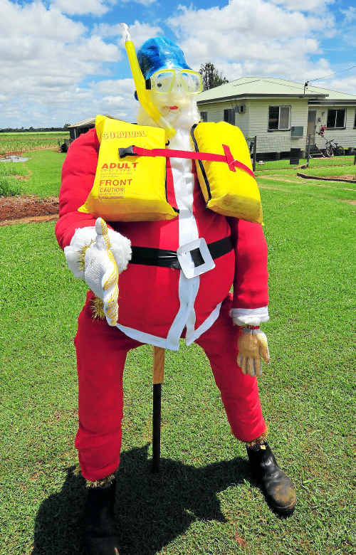 Santa best get his wet weather gear ready for his trip to Toowoomba.