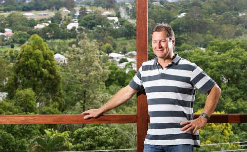 Doug Keating is selling his new-look Denmark Hill property, which is being renovated and has stunning views across the Ipswich region.