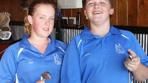 READY: Tory Edmistone and James Mullins are among six Central Highlands golfers competing at the Greg Norman Junior Masters next week. sw-081210-0606