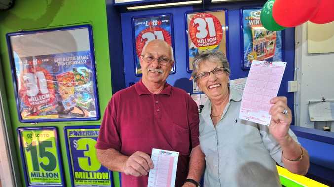 Coffs Harbour newsagents Darryl and Joan Kent are hoping to sell the next big winning lottery ticket.