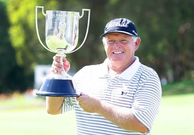 Peter Senior wins the Australian PGA Championship at The Hyatt, Coolum. Photo: Cade Mooney
