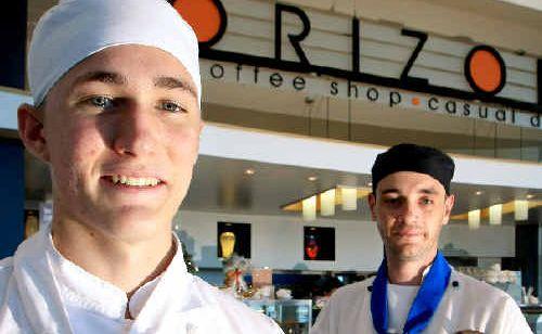 Horizon Restaurant chefs Isaac Whyfon and David Moore.