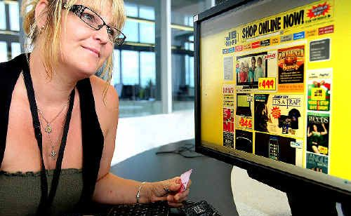 Sandi Atkins tapping into the hugely popular JB Hi-fi online store.