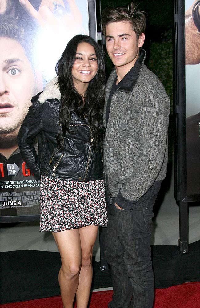 High School Musical stars Vanessa Hudgens and Zac Efron.