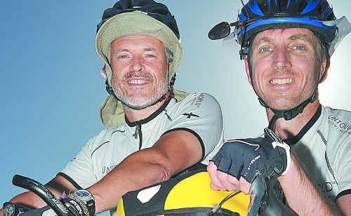 Chris Le Breton and Roland Smith are on their way to Brazil – by bicycle.
