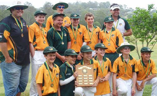 The well-drilled Met West 12-years boys cricket side that beat a Christchurch representative line-up in three matches recently.