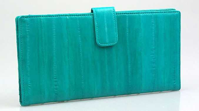 The eel skin travel wallet.