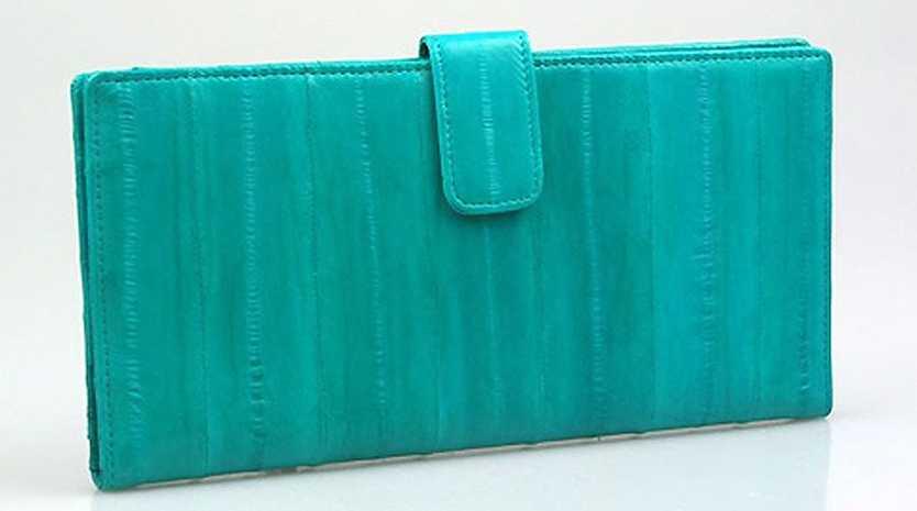 The eel skin travel wallet.